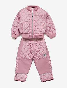 THERMO set w/fleece - 518 POLIGNAC ROSE