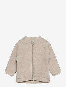 WOOL Baby jacket - uldtøj - 429/melangeoffwhite