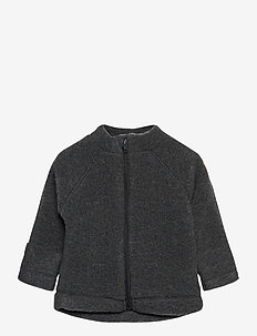 WOOL Baby jacket - woll-kleidung - anthracite melange