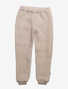 WOOL Pants - spodnie - 429/melangeoffwhite