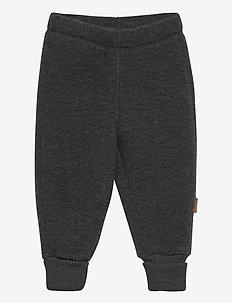 WOOL Pants - spodnie - anthracite melange