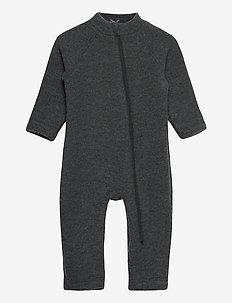Wool Baby Suit - basislag - anthracite melange