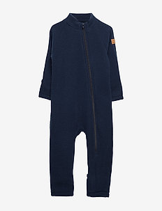Wool Baby Suit - basislag - blue nights