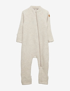 Wool Baby Suit - basislag - melange offwhite