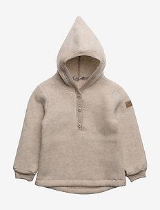 Wool Jacket w. Hood - 429/MELANGEOFFWHITE