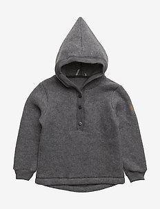 Wool Jacket w. Hood - 916/MELANGEGREY