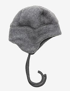 Wool Hat w. String - MELANGE GREY