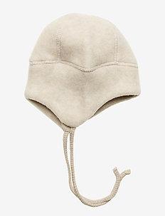 Wool Hat w. String - MELANGE OFFWHITE