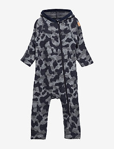 WOOL Jacquard Baby Suit - BLUE NIGHTS