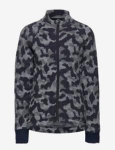 WOOL Jacquard Jacket - BLUE NIGHTS