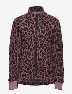WOOL Jacquard Jacket - ROSE TAUPE