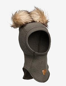 Wool Fullface w. Pom Pom - balaclava - black olive