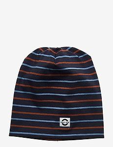 Cotton Hat Multi Stripe - hoed - blue nights