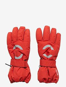 NYLON Junior gloves - POMPEIAN RED