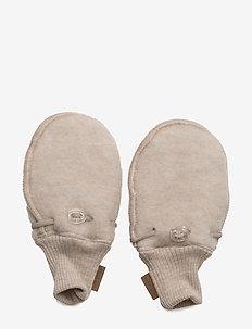 WOOL mittens - rękawiczki - 429/melangeoffwhite