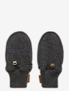 Wool Mittens - uldtøj - anthracite melange