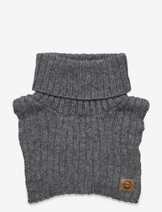 Wool Blend Neckwarmer - cache-cou - dark grey melange