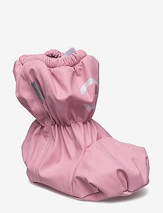 PU RAIN footies w/fleece - winter boots - 518 polignac rose