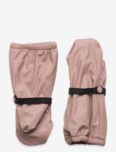 PU RAIN mittens with fleece - winter clothing - adobe rose
