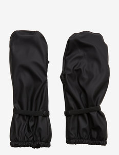 PU RAIN mittens with fleece - BLACK