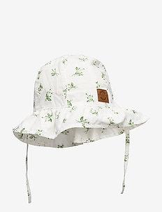 Summer Bucket Hat  Frill - Aop - solhat - white