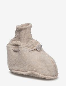 WOOL Baby shoes - slippers - 429/melangeoffwhite