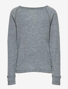 WOOL LS top - langermede t-skjorter - pearl grey melange