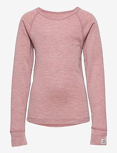 Wool LS Top - base layers - cerise