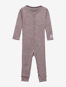 WOOL Jacquard Baby Suit - CERISE