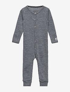 WOOL Jacquard Baby Suit - PEARL GREY MELANGE