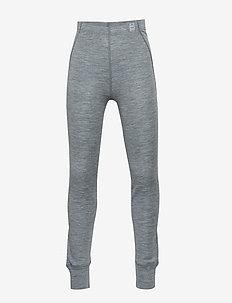 WOOL pants - leginsy - pearl grey melange