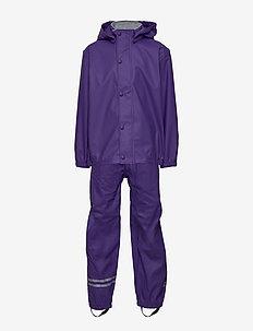 PU RAIN Set w. Susp/98 - ensembles - 741/dark violet (reddish)