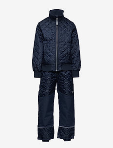 Termo set w. fleece in jacket - 286/DARK MARINE