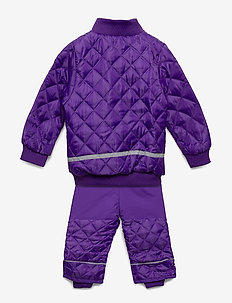 Termo set w. fleece in jacket - thermo - 741/dark violet (reddish)