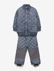 Termo set w. fleece in jacket - thermo - graphite grey suede