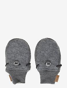 Wool mittens - gants - 916/melangegrey