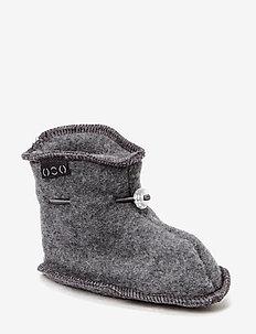 Wool baby shoe - slippers - 916/175-189 m melange/grey