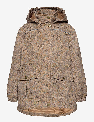 Polyester Tussor Girl Jacket AOP - shell jackets - cafe au lait