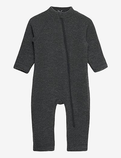 Wool Baby Suit - uldtøj - anthracite melange