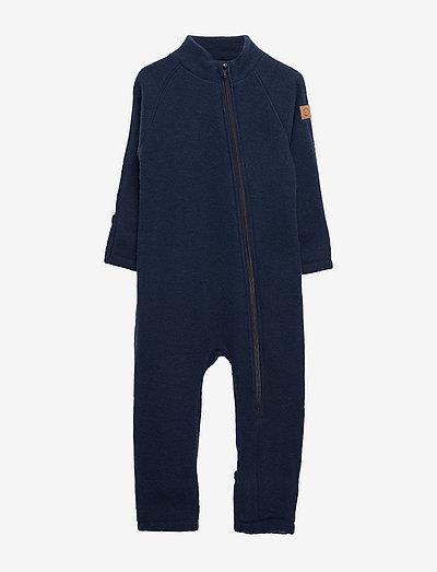 Wool Baby Suit - uldtøj - blue nights