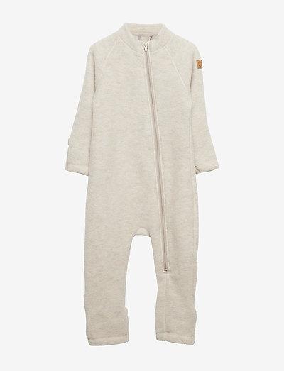 Wool Baby Suit - uldtøj - melange offwhite