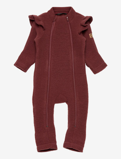 Wool Double Zip Frill Suit - uldtøj - andorra