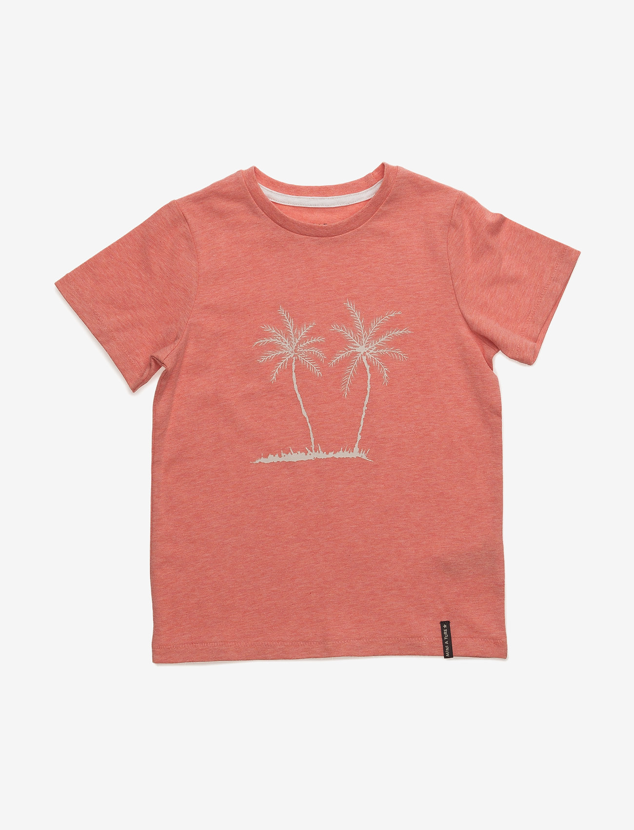 Mini A Ture - Palmtree, MK T-Shirt LS - kortærmede - strawberry ice - 0