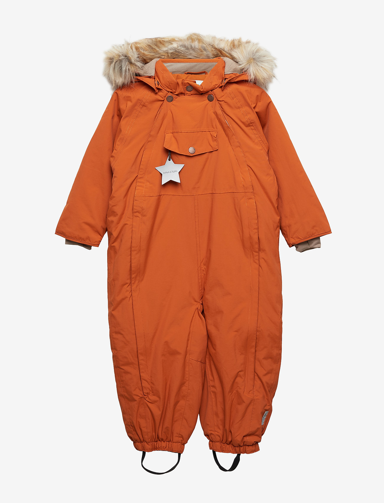Mini A Ture - Wisti Faux Fur Snowsuit, M - vintertøj - autumnal brown - 0