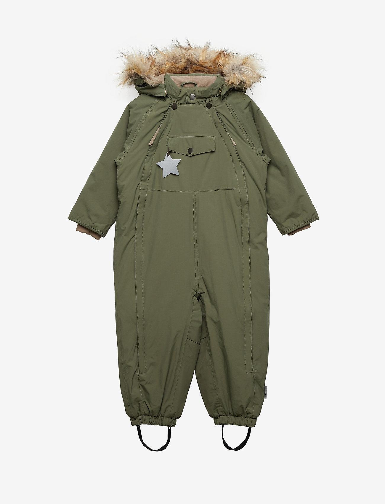 Mini A Ture - Wisti Faux Fur Snowsuit, M - snowsuit - beetle - 0
