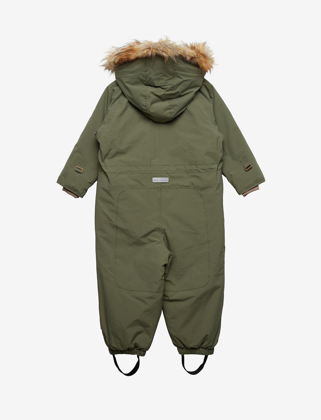 Mini A Ture - Wisti Faux Fur Snowsuit, M - snowsuit - beetle - 1