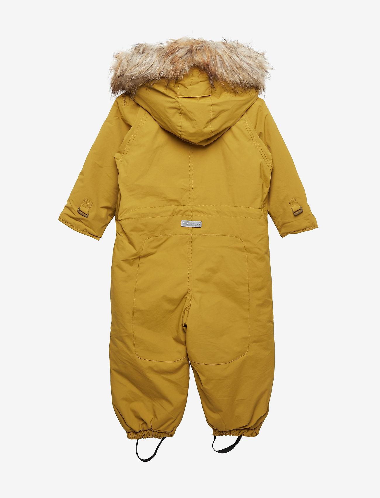Mini A Ture - Wisti Faux Fur Snowsuit, M - vintertøj - dried tobacco - 1