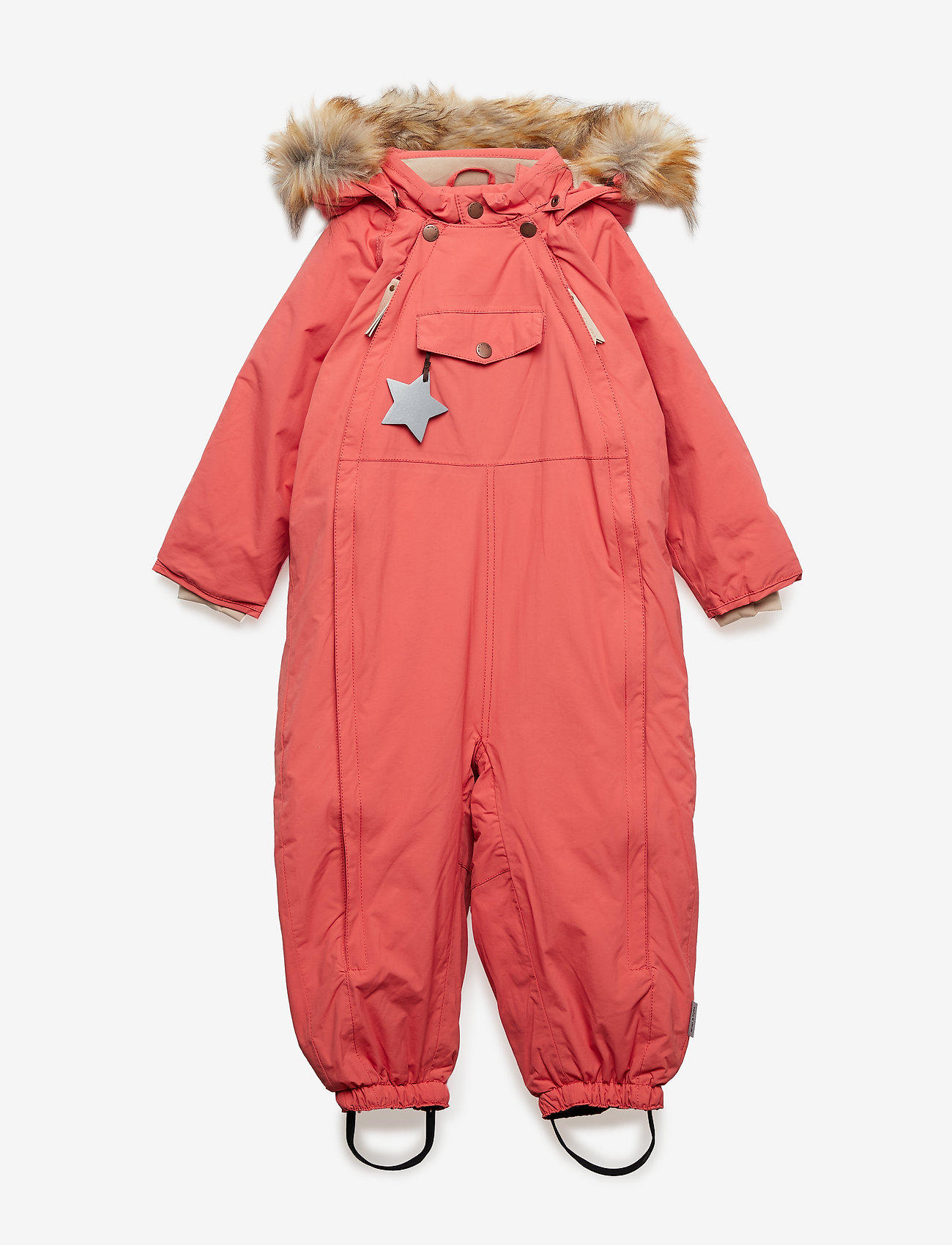 Mini A Ture - Wisti Faux Fur Snowsuit, M - vinterdress - faded rose - 0