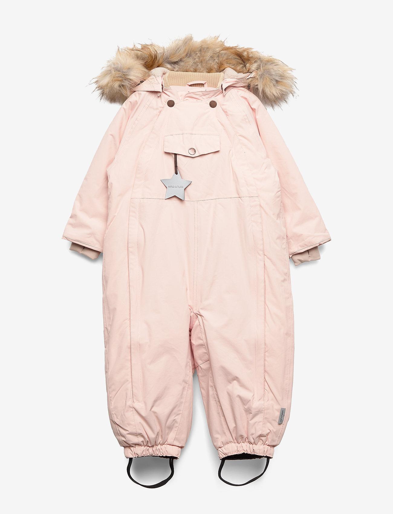 Mini A Ture - Wisti Faux Fur Snowsuit, M - vinterdress - keen rose - 0