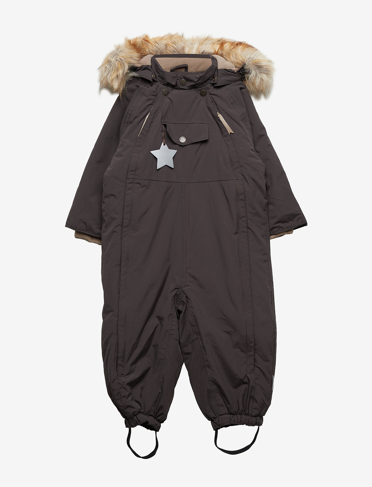 Mini A Ture - Wisti Faux Fur Snowsuit, M - vinterdress - licorise - 0